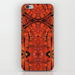 Red Abstract Art - Warm Garden 2 - By Sharon Cummings iPhone Skin