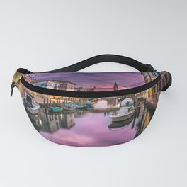 Venice Canal at Sunset Fanny Pack