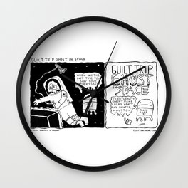 Guilt Trip Ghost in Space Wall Clock