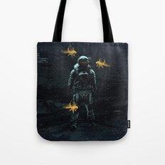 Space goldfish Tote Bag