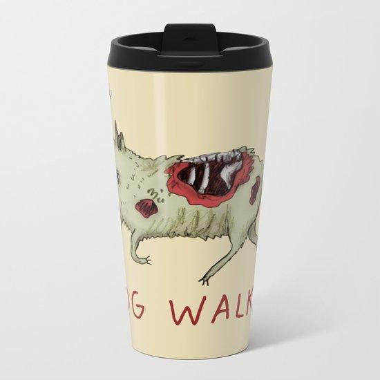 Dog Walker Metal Travel Mug