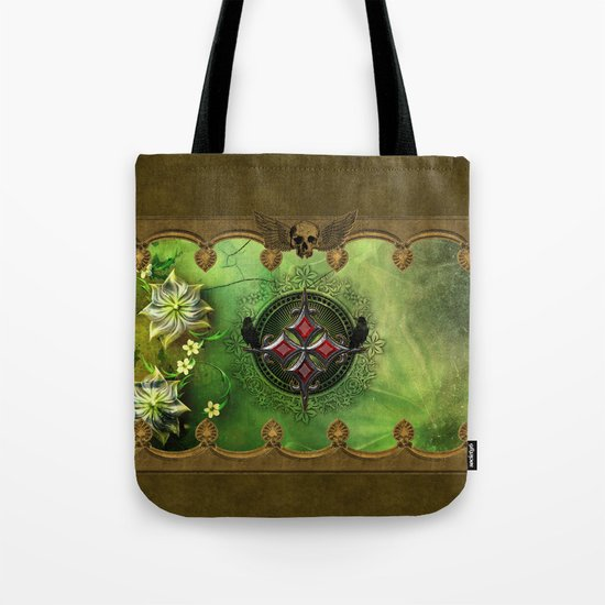 Wonderful gothic design with cross Tote Bag