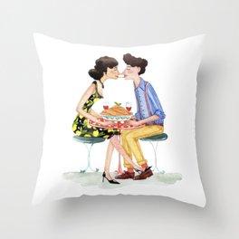 Spaghetti lovers Throw Pillow