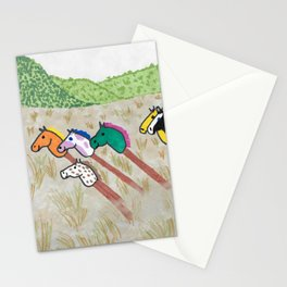 Stick Horses in the Wild Stationery Cards