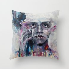 a hint of color Throw Pillow