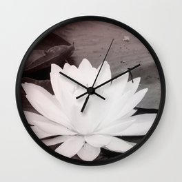 Lily Pad  Photo Bomber Wall Clock