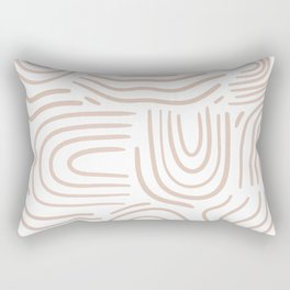 Abstract line pattern blush pink Rectangular Pillow