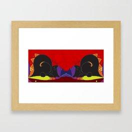 Mary-Anne's Red Cat Mug Framed Art Print