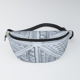 Simply Tribal Tile in Indigo Blue on Sky Blue Fanny Pack