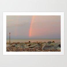 Rainbow out at Sea Art Print