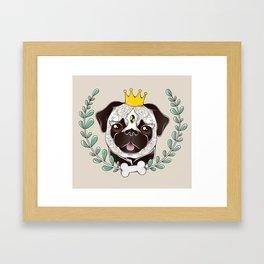 King of Pug Framed Art Print