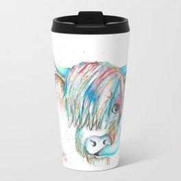 Highland Cattle full of colour Travel Mug