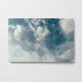 Soft Dreamy Cloudy Sky Metal Print