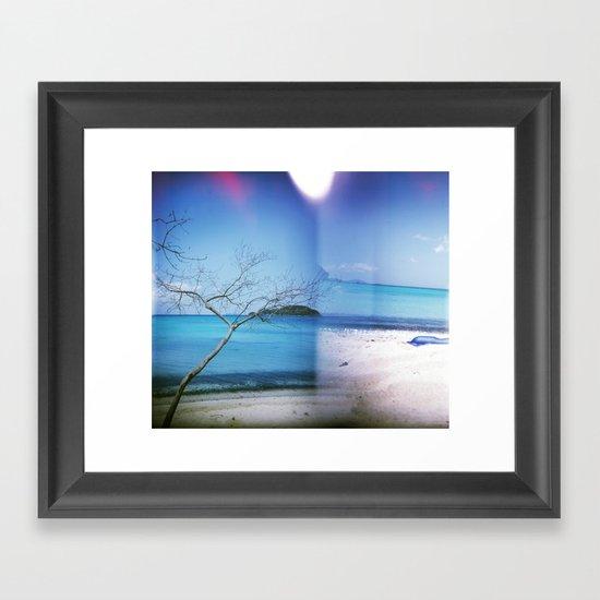 Beach Multiple Exposure Framed Art Print