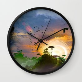 The Architect Of Time Wall Clock