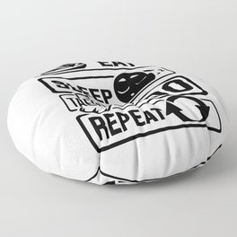 Eat Sleep Taekwondo Repeat - Martial Arts Floor Pillow