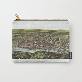Bird's Eye View of Manayunk Philadelphia, Pennsylvania (1907) Carry-All Pouch