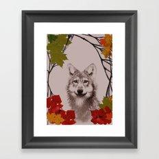among the leaves (evening) Framed Art Print