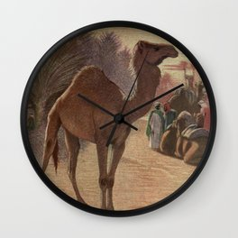 Vintage Camel Painting (1909) Wall Clock