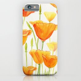 Blossom Poppies iPhone Case