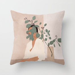 Behind the Leaves Throw Pillow