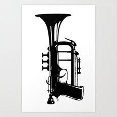 testTrumpet Art Print