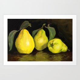Quinces the fruit of love Art Print