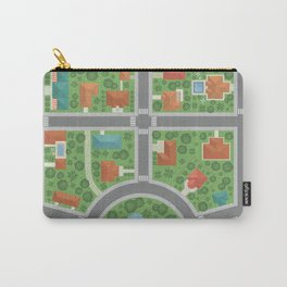 Urban Aerial View Carry-All Pouch