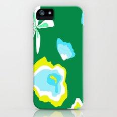 Teal FLowers iPhone (5, 5s) Slim Case