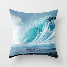 Epic wave art Throw Pillow