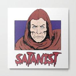 Satanist Comics Illustration Metal Print