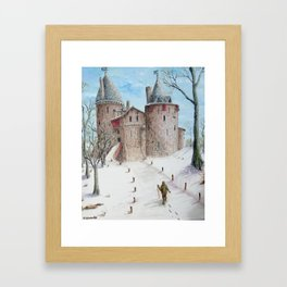 Castell Coch (Red Castle) - Winter Framed Art Print