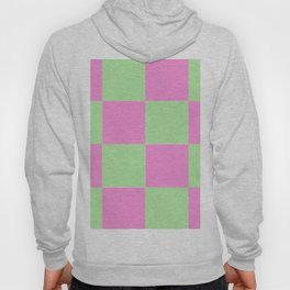 Pink and Mint Green Checks Hoody