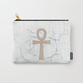 White Marble Ankh + Donation to the American Cancer Society Carry-All Pouch