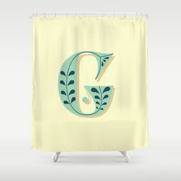 Alphabet Drop Caps Series- G Shower Curtain