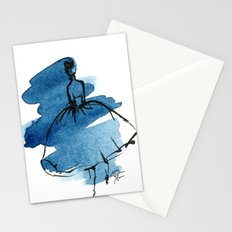 Retro Chic Runway Dress 5 Stationery Cards