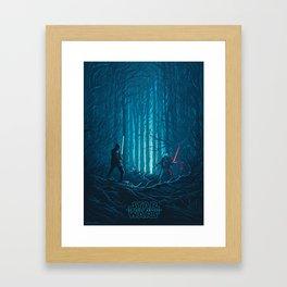 Fin & Kylo Framed Art Print
