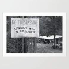 Prosecuted  Art Print