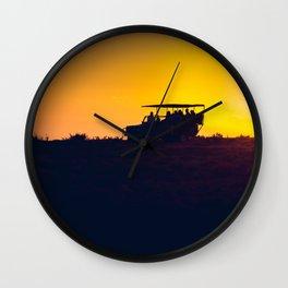 Morning African Safari Wall Clock
