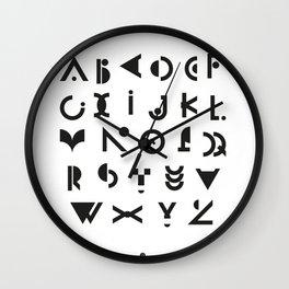 Alphabet Wall Clock