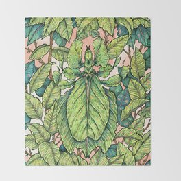 Leaf Mimic Throw Blanket