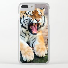 Roaring Tiger Clear iPhone Case