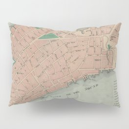 Vintage Map of Lower Manhattan (1776) Pillow Sham