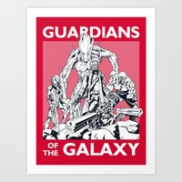 guardians of the galaxy Art Prints featuring Guardians by LilloKaRillo