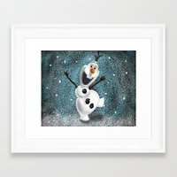 olaf Framed Art Prints featuring Olaf by Ricky_Disneyart