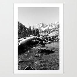 Maroon Bells Mountains Colorado Art Print