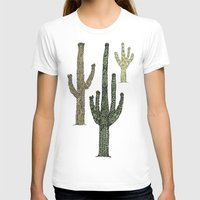 cactus T-shirts featuring Cactus by Hinterlund