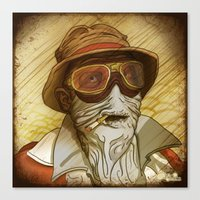 fear and loathing Canvas Prints featuring Fear and Loathing by Ant Errickson