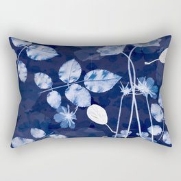 Flora Cyanotype Rectangular Pillow