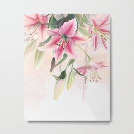 Blush lilium Metal Print